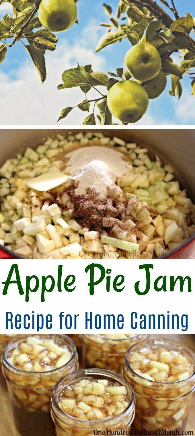 Apple Pie Jam   Cooking   Apple cooking Jam pie   Marmelade ...