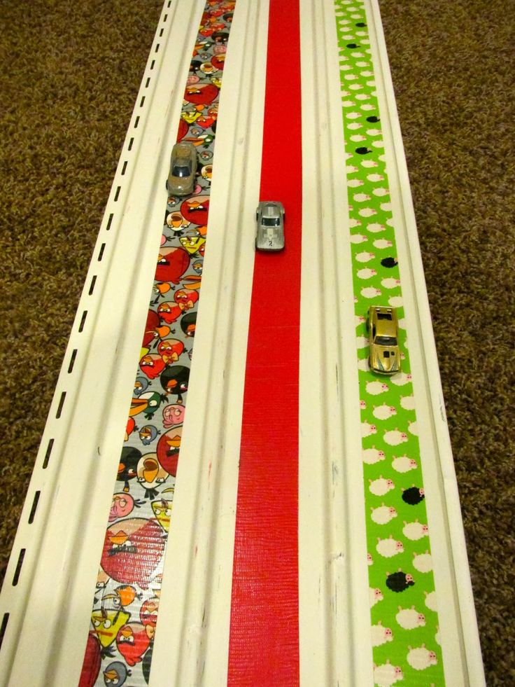 Amazing Action Alphabet DIY race track for
