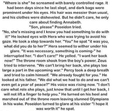 If Annabeth had been taken instead of Percy