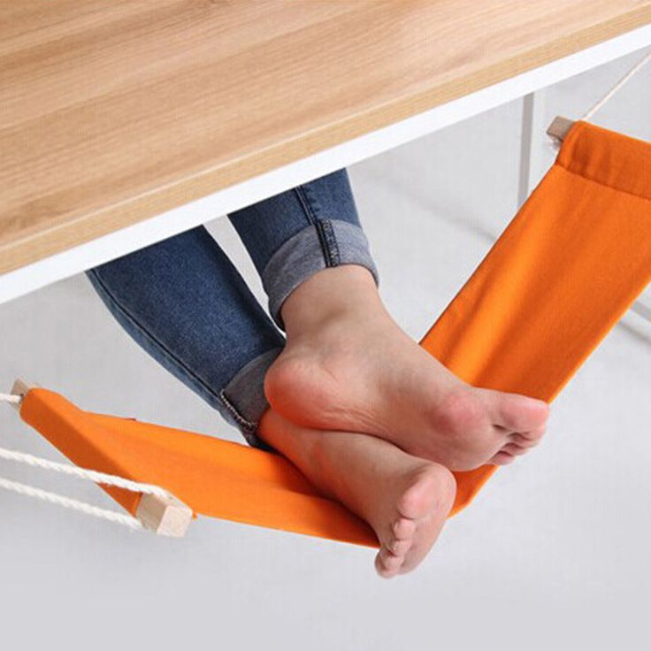 60*16cm Office Foot Rest Stand Desk Feet Hammock Easy to Disassemble Study Indoor Orange Free Shipping