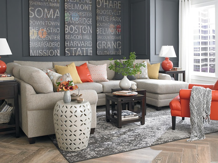 Beautiful U Shaped Sectional Bassett Furniture HGTV Cust Design