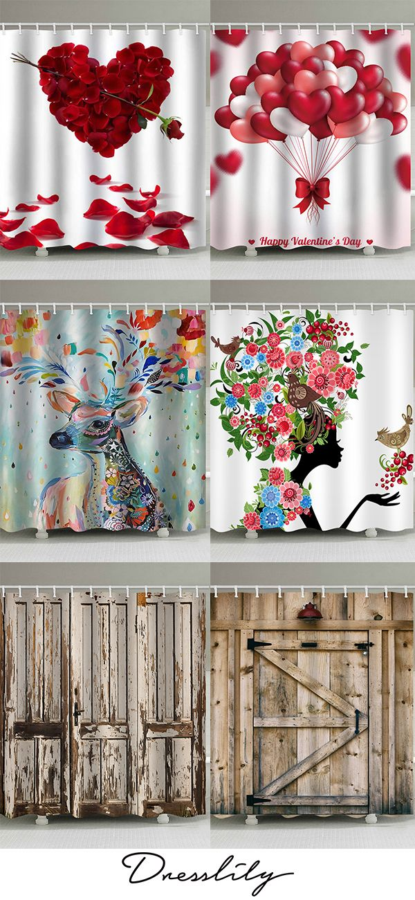 6 Best Shower Curtain Ideas For Your Bathroom Extra 12 Off Code Dl123 Dresslily Showercur Cool Shower Curtains Christmas Shower Curtains Diy Shower Curtain