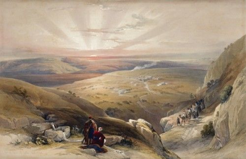 David Roberts RA (1796-1864) Site of Cana of Galilee, April 21st 1839