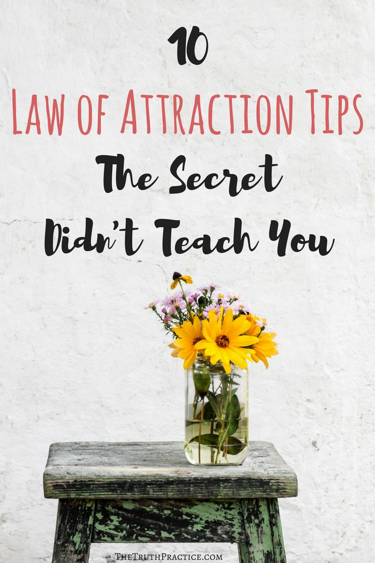 10 Law of Attraction Tips: The Secret Didn't Teach You