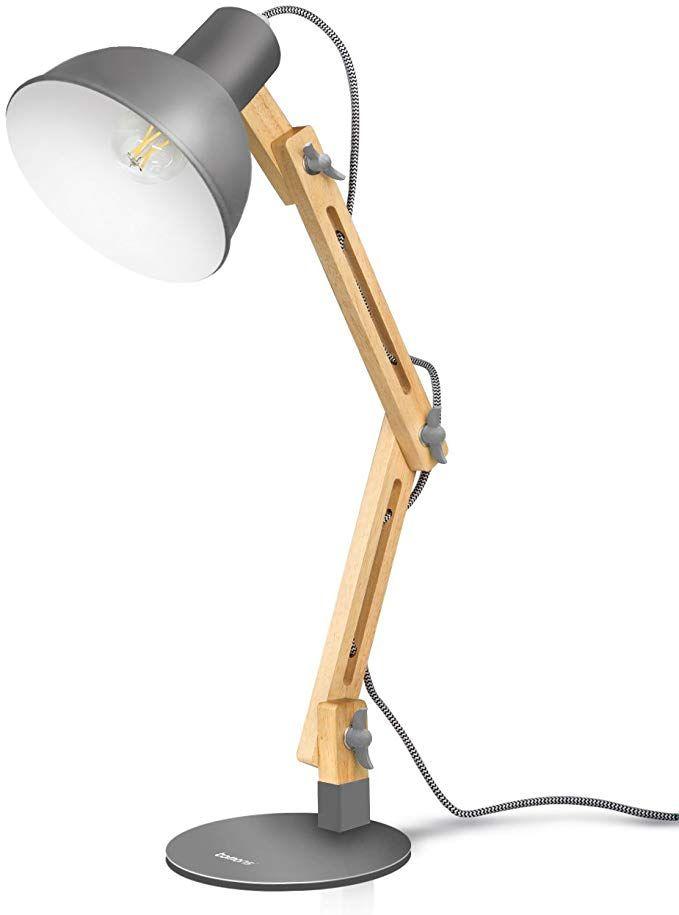 Tomons Swing Arm Led Desk Lamp Wood Designer Table Lamp Reading Lights For Living Room Bedroom Study Office Beds Desk Lamp Wooden Desk Lamp Led Desk Lamp