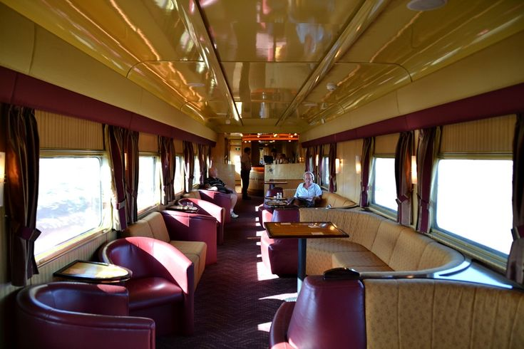 Indian Pacific train   Lounge car