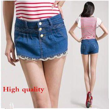 2015 новых женщин лето Большой размер джинсовые ковбой брюки женщина высокая талия тонкие бедра джинсы шорты S-4XL