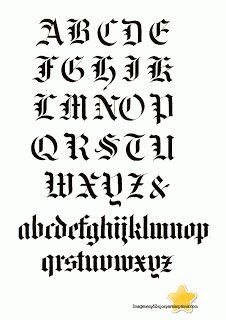 Letra gotica  Letras para calcar