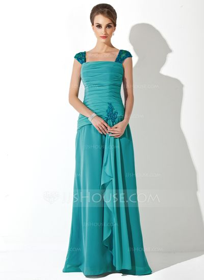 Mother of the Bride Dresses - $138.99 - A-Line/Princess Square Neckline Floor-Length Chiffon Tulle Mother of the Bride Dress With Ruffle Lace Beading (008006222) http://jjshouse.com/A-Line-Princess-Square-Neckline-Floor-Length-Chiffon-Tulle-Mother-Of-The-Bride-Dress-With-Ruffle-Lace-Beading-008006222-g6222