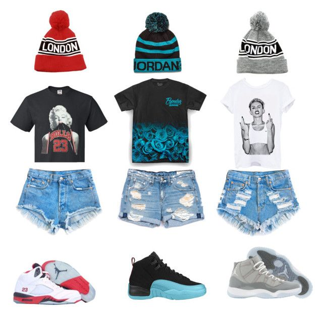 """""""Wit da bae's 2day"""" by laylay-023 ❤ liked on Polyvore featuring Levi's, rag & bone/JEAN, Retrò, Cyrus and NIKE"""