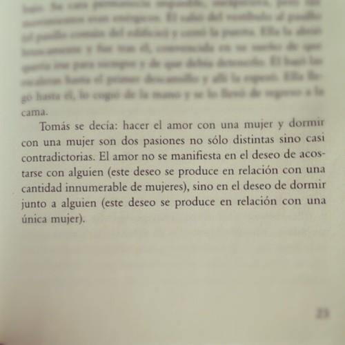 La insoportable levedad del ser por Milan Kundera