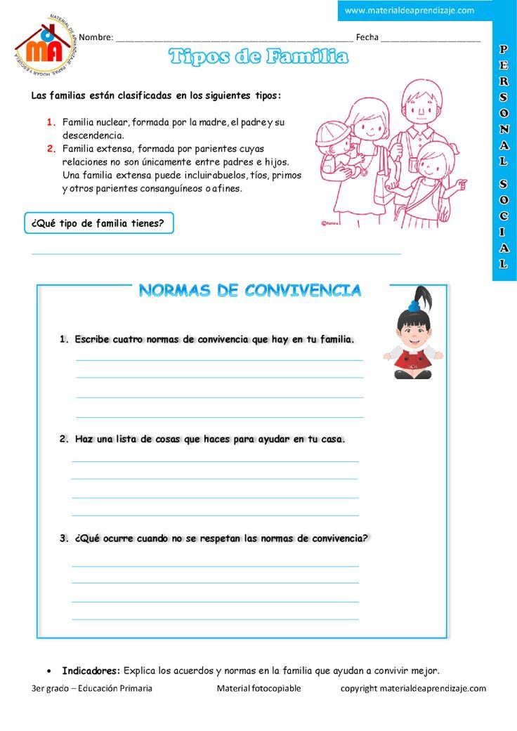 Tipos de familia: 3er grado - Material de AprendizajeMaterial de Aprendizaje
