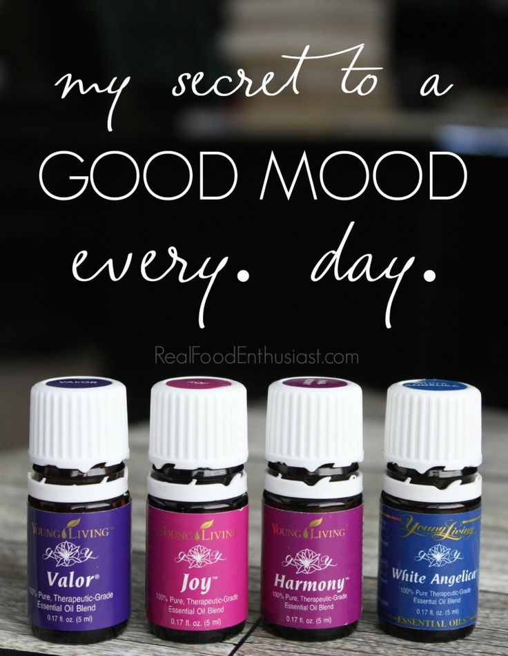"""My simple secret to being in a good mood, every day! This essential oil """"happy protocol"""" could change your life!"""