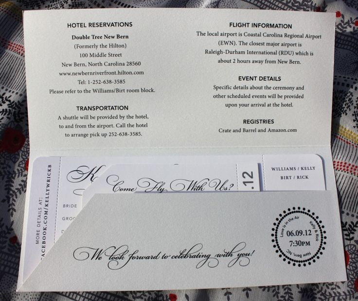 OK! SUper cool!  But we will do the red and blue stripe around the 8 1/2 x 11 paper. to look like an itinerary!  but if you look at the rest of the pieces to this, you'll see all the cool components!  themed Airline Ticket Wedding Invitations with Pocket Folder