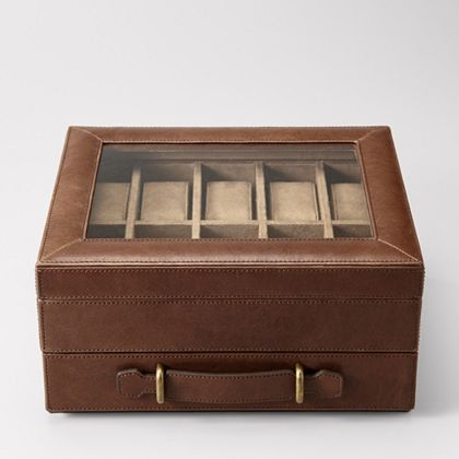 Step 1: get this Fossil watch-box. Step 2: purchase more watches worthy of a place in it. Step 3: declare bankruptcy.
