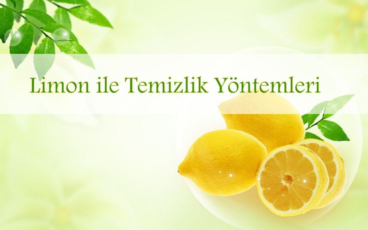 Limon ile Temizlik Yöntemleri