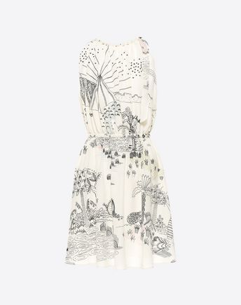 Are you looking for Valentino Printed Crêpe De Chine Dress? Find out all the details at Valentino Online Boutique and shop designer icons to wear.