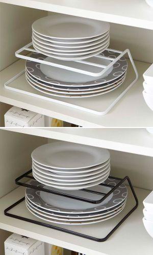 【食器・皿・収納】ディッシュストレージ・タワー|キッチンストレージ・洋皿・和皿・収納棚・食器棚・収納ラック・シンプル・キッチン収納