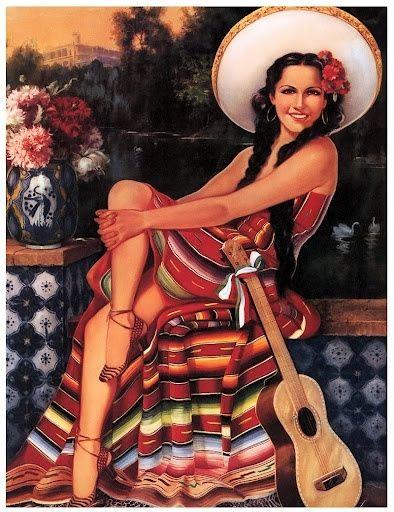 Calendar Art Models : Best mexican calendar art images on pinterest