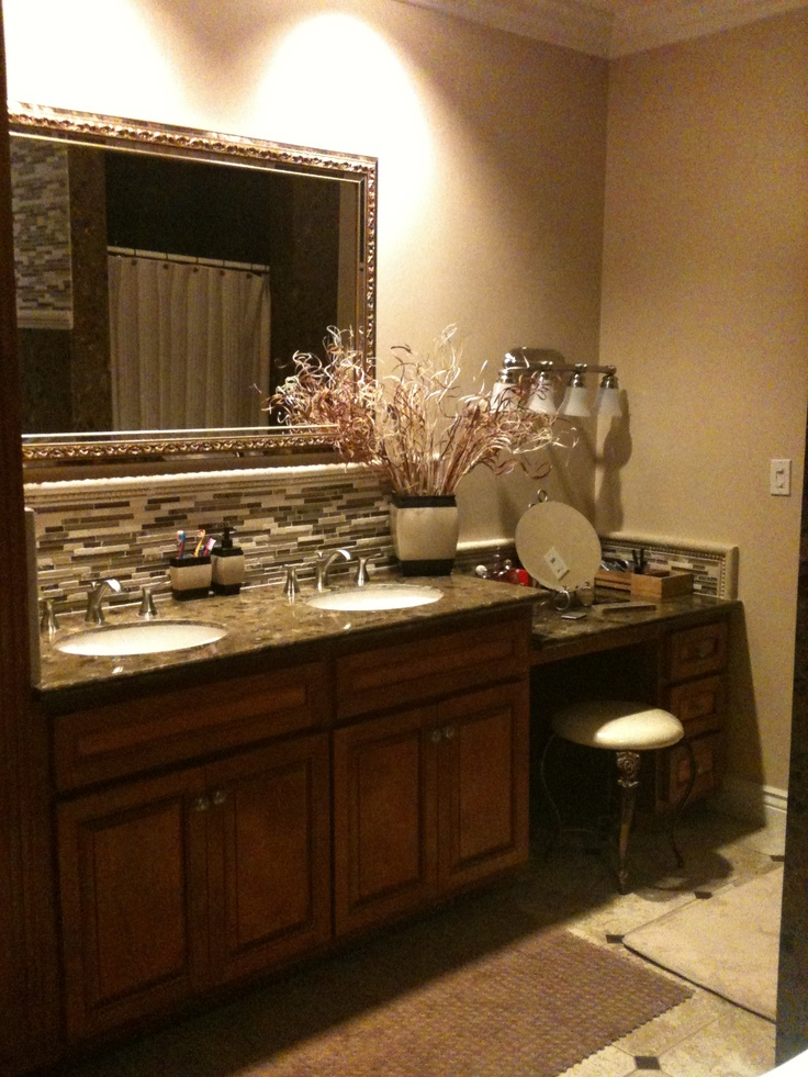 His And Hers Sink With A Fabulous Touch Of Built In Vanity