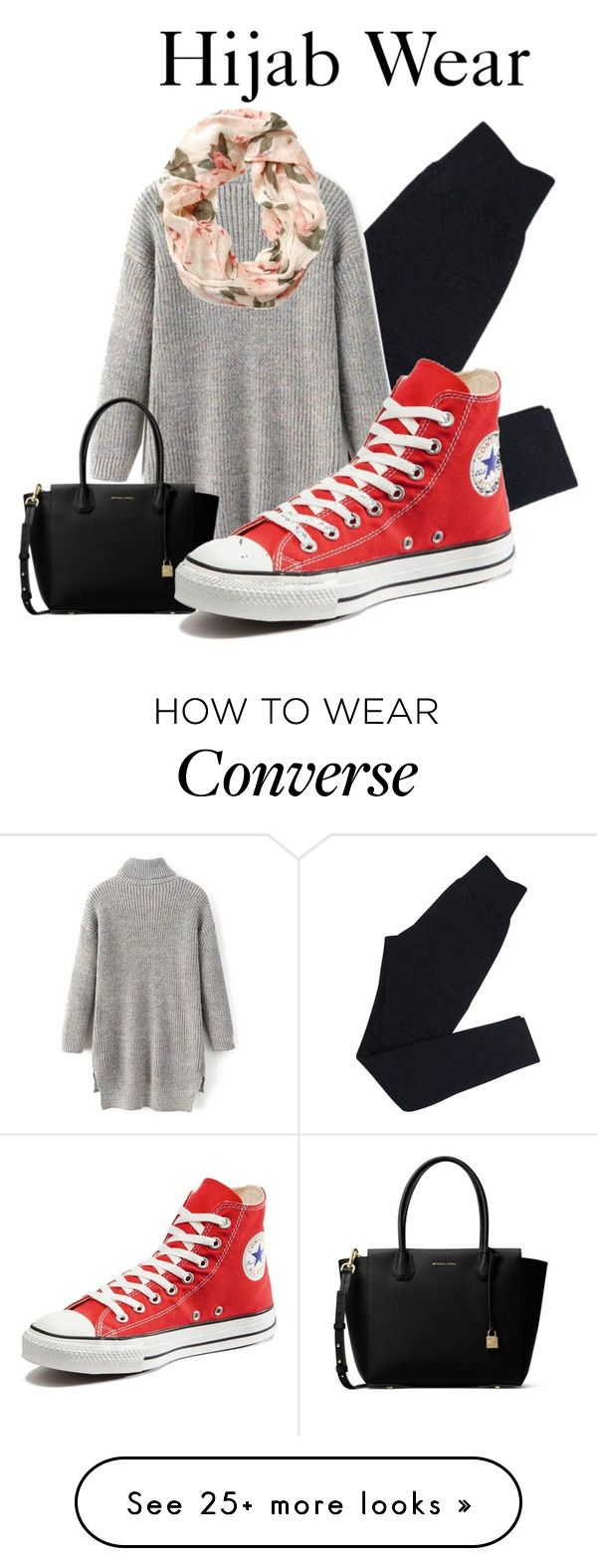 """""""~It Was Who You Are~"""" by dian-farah on Polyvore featuring Wolford, MICHAEL Michael Kors and Converse"""