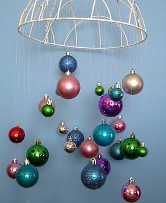hanging basket to christmas decor