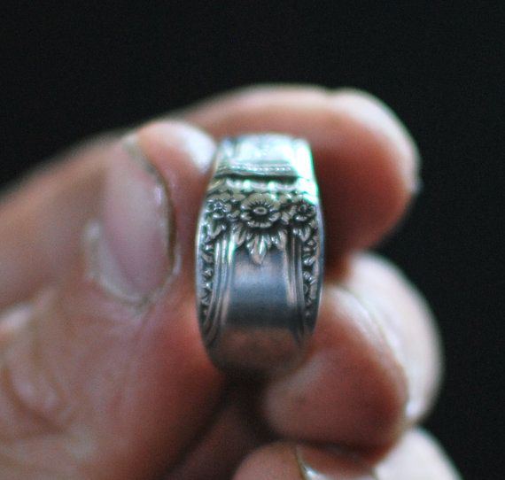 Trending Silver Plated Spoon Ring First Love Rogers Bros by dremeWORKS