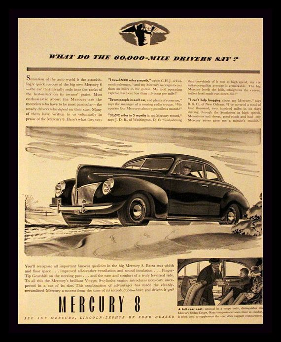 44 best 1940s Car Advertising images on Pinterest | Car advertising ...