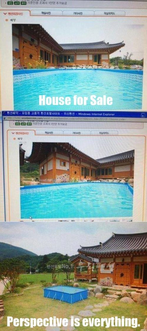 Every day, I see the most ridiculous photos come onto MLS.  I'm not talking about the poor quality photos – those that are taken with the listing agent's Blackberry because they're too cheap to pay for professional photos.  That's pretty bad, but I'm talking about the photos themselves – what they are, what they show, and the impression that they leave.