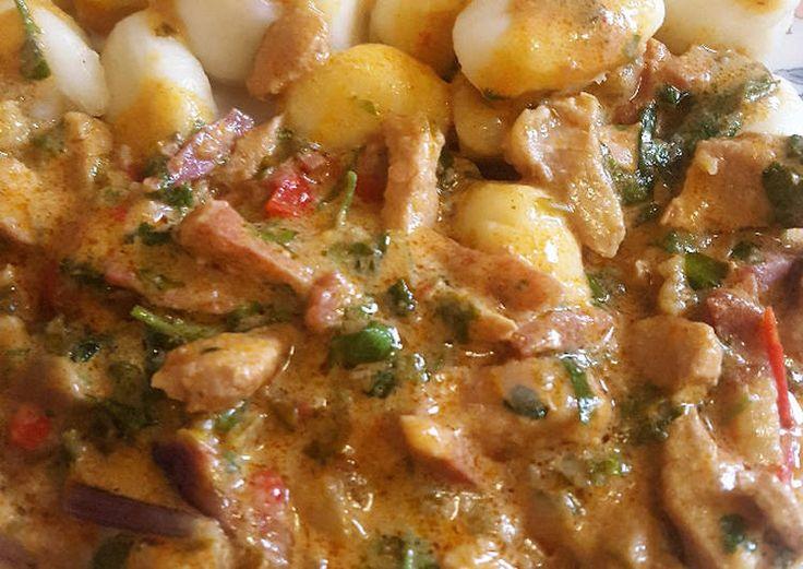 Mustáros-petrezselymes sertéstokány ~~ cookpad.com