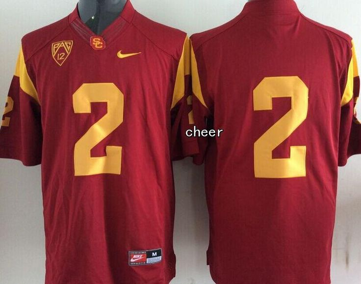 USC Trojans #2 Robert Woods Red Stitched NCAA Jersey