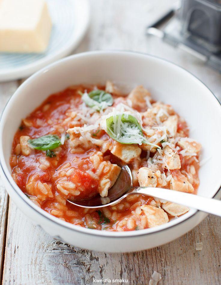 Risotto z kurczakiem i pomidorami