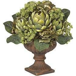 @Overstock - Add exotic beauty to your home decor with this Artichoke Topiary arrangement  Silk plant features a bloom with a wondrous array of shapes and textures    Decorative accessory makes for a breathtaking centerpiecehttp://www.overstock.com/Home-Garden/Silk-Artichoke-Flower-Centerpiece-Arrangement/3344447/product.html?CID=214117 $47.99