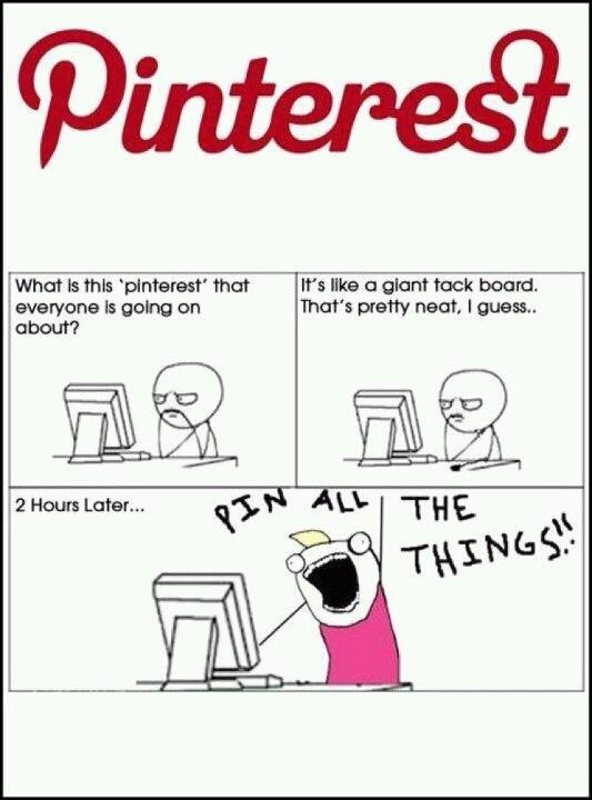 Yes, it pretty much sums up my experience with Pinterest!