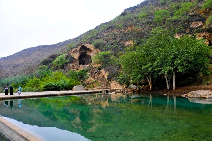 West Salalah Full Day Tour - At Rysut, on the outskirts of Salalah enter the road to Yemen, passing the port of Salalah. After 30km, you reach the beautiful bay of Mughsail with its lagoon and the 6 km long beach. After brief stop at beach, we continue our journey into the mountains.