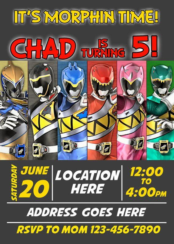 New Power Rangers DINO CHARGE Birthday by designsbyjayhawaii