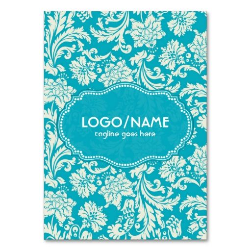 Turquoise and White Floral Damasks-Customized Business Card Templates. This is a fully customizable business card and available on several paper types for your needs. You can upload your own image or use the image as is. Just click this template to get started!