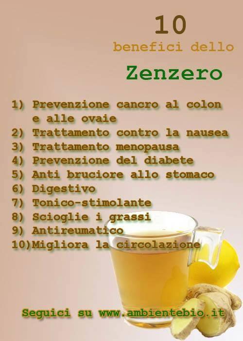 10 benefici dello zenzero