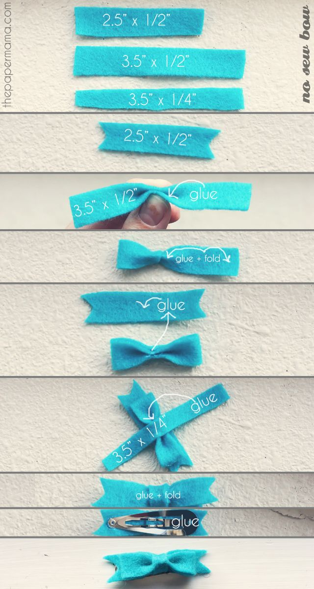 no sew bow! i could make these for the Rorsters!