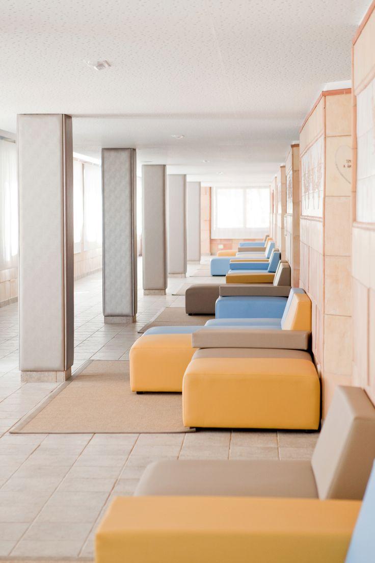 The living room from the massage area in Gloria Palace San Agustín  *La Sala de espera del área de masajes en Gloria Palace San Agustín #spa #massages #GloriaPalaceSanAgustín #Thalasso