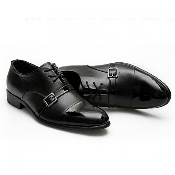 British Style Career Splicing Lace-Up and Buckle Design Formal Shoes For Men $34.89