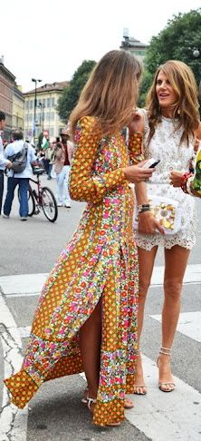 Old meets new #FearlessFriday #Fashion #Style #HouseofFraser: Long Dresses, Maxi Dresses, Fashion, Street Style, Prints, The Dresses, Anna Dello Russo, Lace Dresses, Anna The Russian