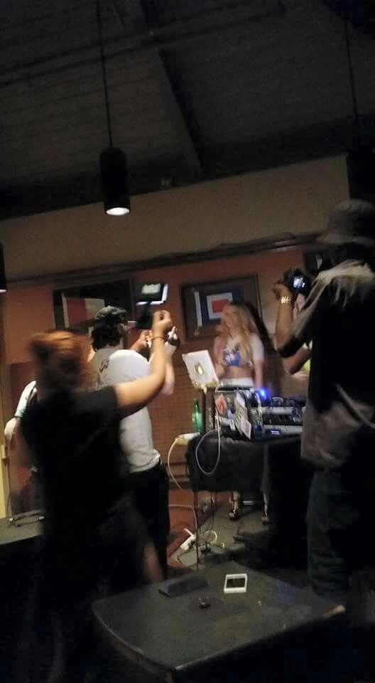Chanel West Coast performing a rap at the V.I.P