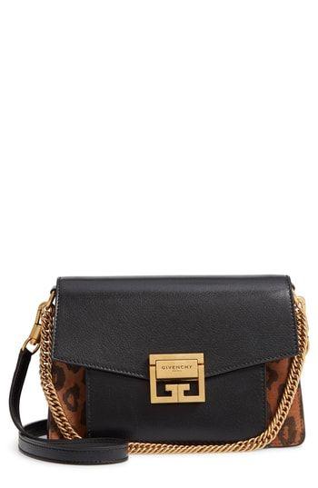 82c0d02c99a8 New Givenchy Small GV3 Leopard Print Leather Crossbody Bag. Women's Fashion  Handbags [$2590]