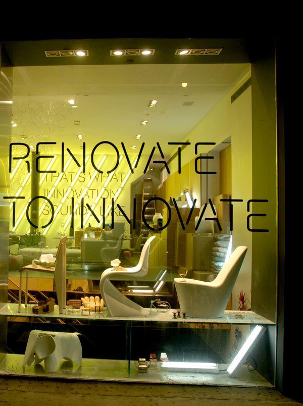 """""""Under Construction"""" Showroom installation for Vitra NY by Nicole Jacek, via Behance"""