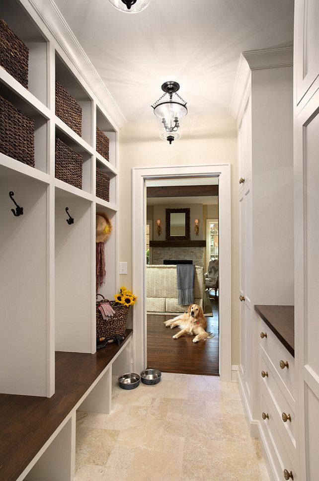Mudroom Flooring Ideas. Mudroom Durable Flooring. Mudroom Tile Flooring. The mudroom tile is a honed Travertine, small Versailles pattern.