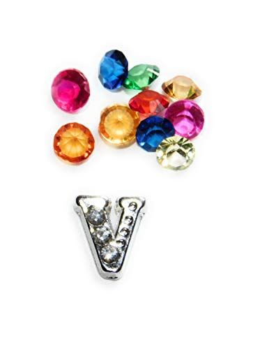 Mickey Mouse Crystal Letter K Floating Charm