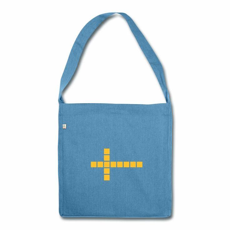 Schweden Flagge Schultertasche aus Recycling-Material