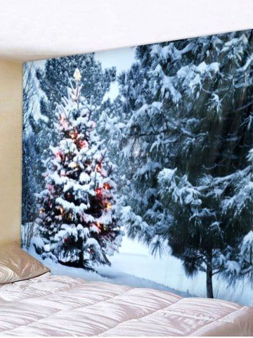 Christmas Trees Print Wall Tapestry Art Decoration X-mas lights