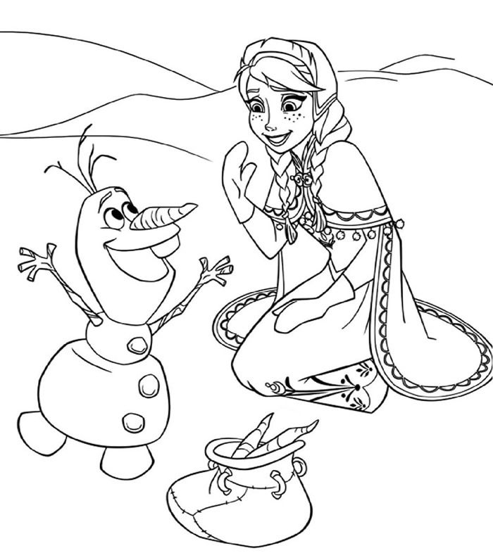 Coloriages grauits imprimer frozen coloring with bev - Coloriage olaf ...